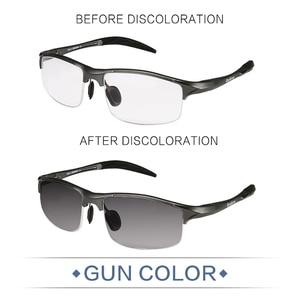 Image 2 - Reedoon Photochromic Sunglasses Polarized Lens UV400 Aluminium Magnesium Frame Driving Goggles For Men High Quality