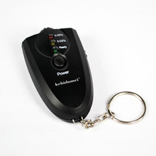 Mini Alcohol Breathalyzer with Flashlight and Key Chain
