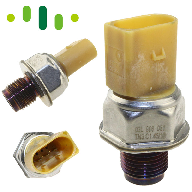 55PP26 02 Genuine Fuel Rail Pressure Sensor 55PP26 02 For VW T5 AUDI A3 A4 A5 A6 Q5 03L906051, 03L 906 051 057130764H 2.0 Diesel    -