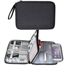 Водонепроницаемая электроника Аксессуары Органайзер дорожная сумка планшет чехол для хранения iPad Mini Air 2 телефон зарядное устройство кабель для зарядного устройства
