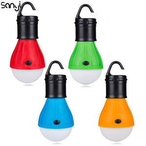 4 Colors LED Bulb For Camping Emergency Lamp Mini Portable Lantern Tent Light