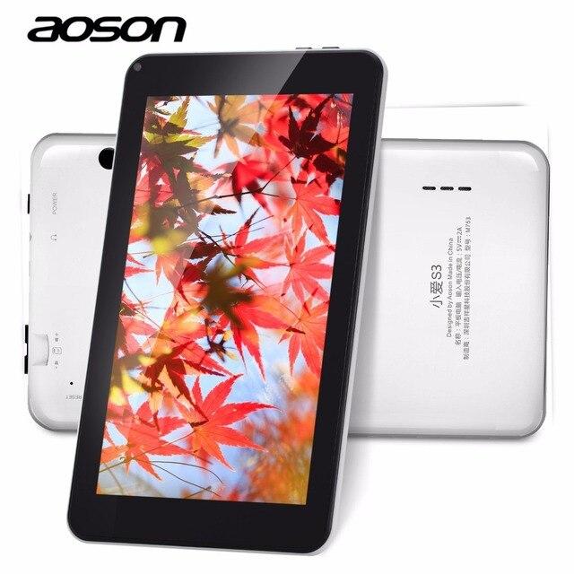Android 6.0 7 дюймов AOSON M753 Планшеты 16 ГБ Встроенная память 1024*600 IPS Экран Allwinner A33 4 ядра Планшеты шт с подарком touch Стилусы ручка