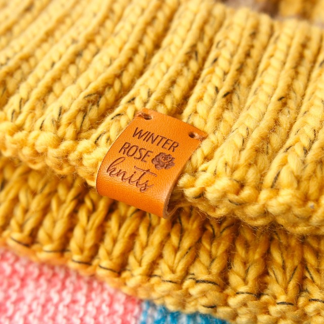 Custom Labels,Personalized Tags, Tags,  With Love, Leather Tags, personalized tags, knit labels, Custom Name,  Handmade (PB1502)