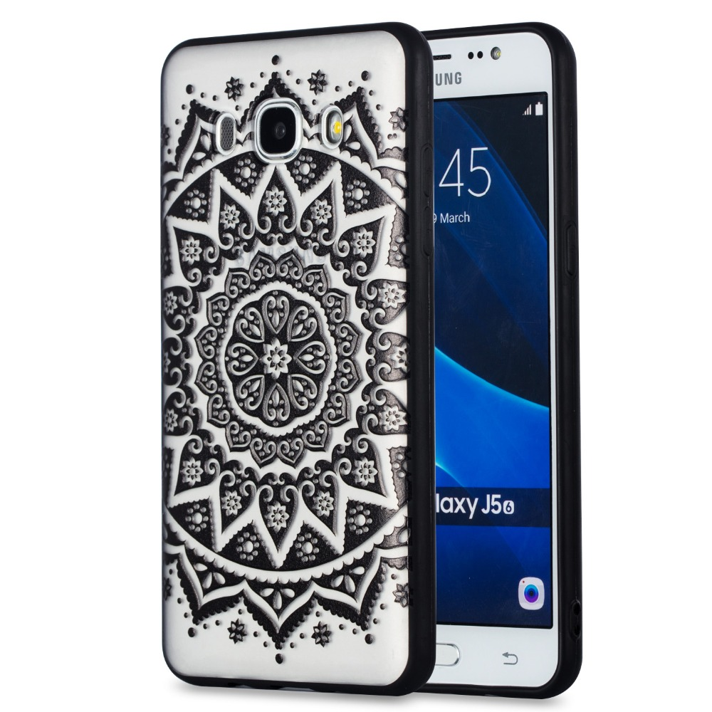 Sexy Floral Phone Case For Samsung Galaxy J7 2016 J710 Lace Flower Hard PC+TPU Cases Back Cover For Samsung Galaxy J7 2016 case