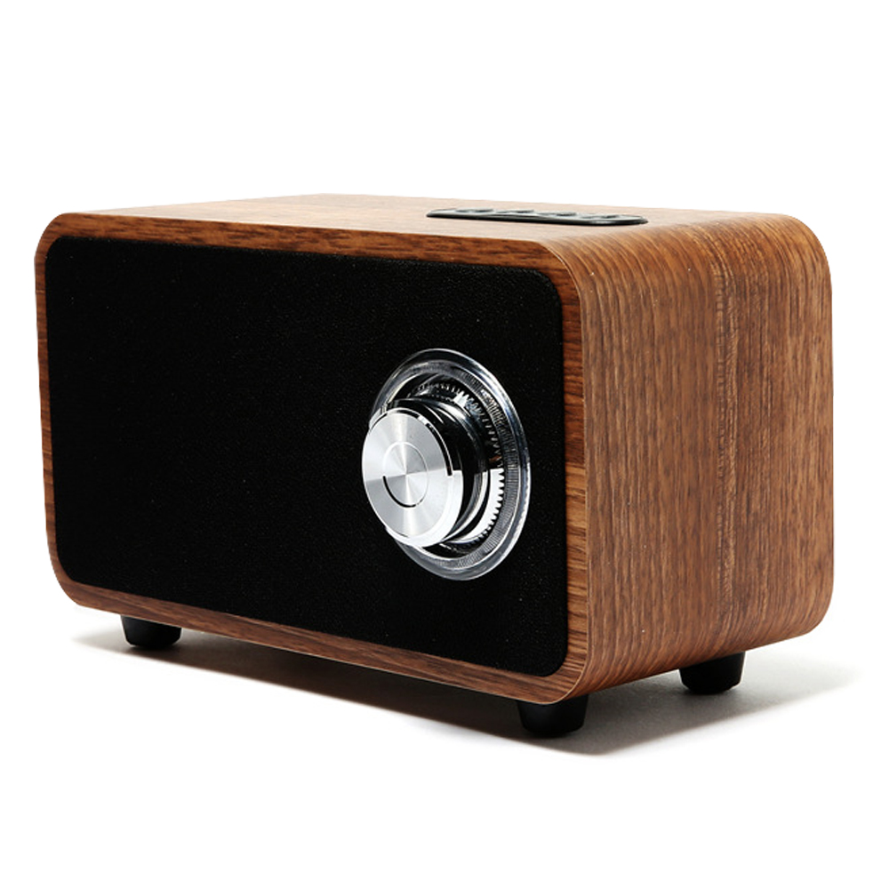 Wireless Bluetooth Vintage Speaker Wood Portable Audio HiFi Stereo Music Subwoofer Computer Speakers with Mic TF Card MP3 Player купить в Москве 2019