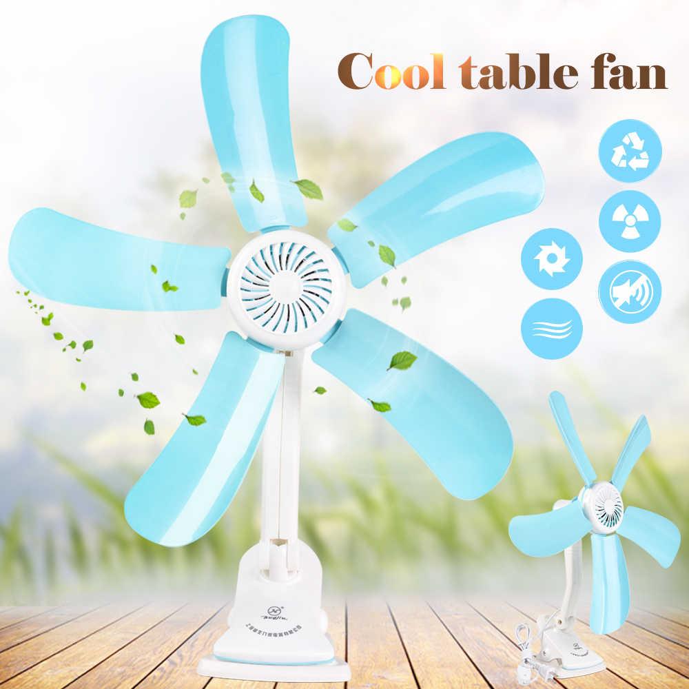 1 PCs 5 Blätter Elektrische Clip Fan Kinderwagen Fans Multifunktions Wand Hängen Tisch Halter Fan Stille Energiesparende Cool Tisch fan