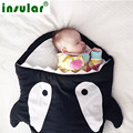 baby Cartoon Shark sleeping bag high quality cotton infant stroller bag swaddle wrap newborns envelopes baby bedding Sleepsack