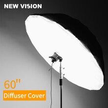 """สตูดิโอ Photogrphy 60 """"150 cm สีขาวสีดำสะท้อนแสงแสงร่ม Diffuser Cover (Diffuser เท่านั้น)"""