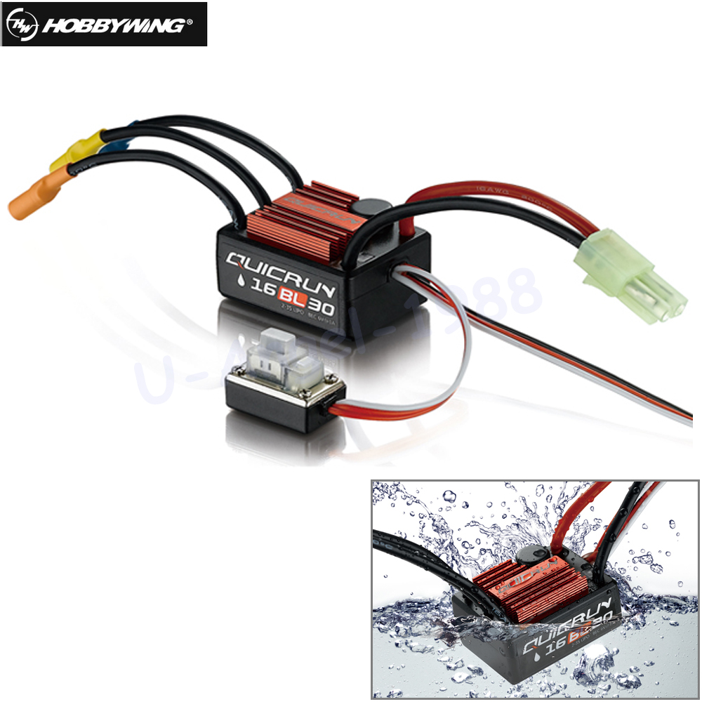 1pcs Original Hobbywing QuicRun 16BL30 30A Brushless ESC For 1/16 On-road / Off-road / Buggy /Monster RC Car 30a esc welding plug brushless electric speed control 4v 16v voltage