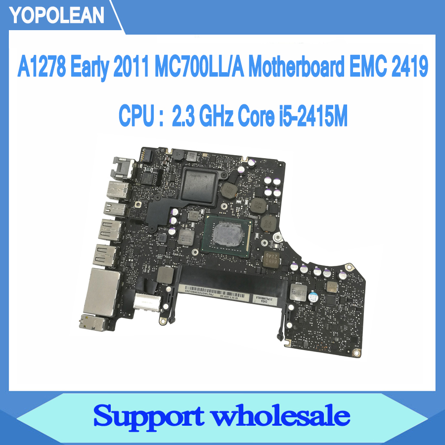 Logic Board 2.66GHz C2D Odyson Replacement for MacBook Pro 13 Unibody A1278 Mid 2010 P8800