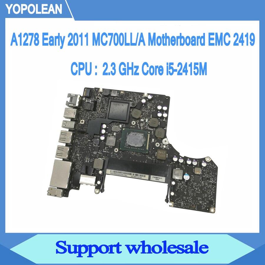 Carte mère 2.3 GHz Core i5-2415M pour Macbook Pro 13
