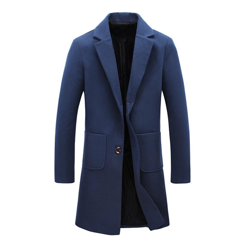 2017 winter new style Men's fashion trench coat Men high quality jackets blazers Men's leisure windbreaker big size M-5XL