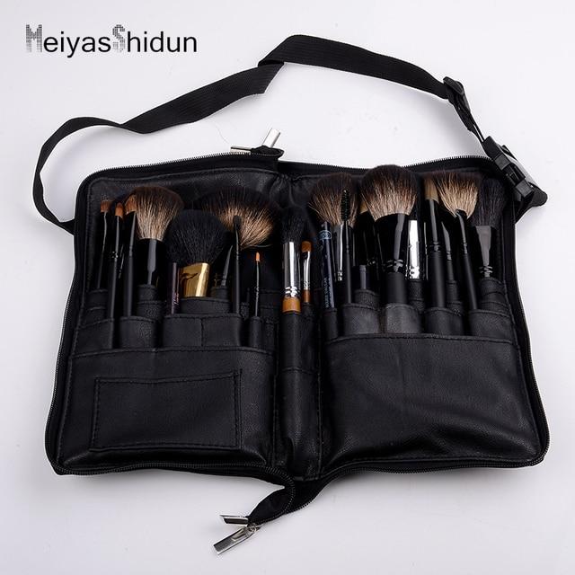 Meiyashidun Professional Women Cosmetic Makeup Brush Apron Bag Waist Bag Belt Portable Organizer Bolso Storage pouch Holder case