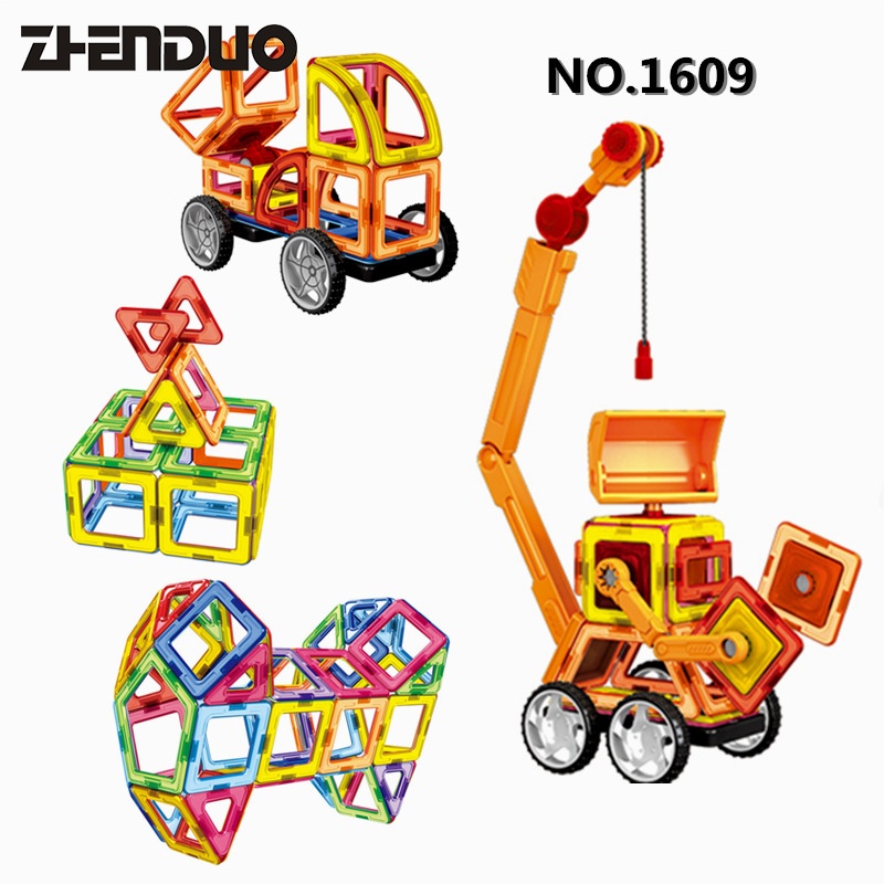 Zhenduo Works of Magnetic Pieces of 3D Building Puzzle Children early Education Toys Creative DIY Free shipping puzzle multifunctional piano baby early education music hand drums intelligent piano toys