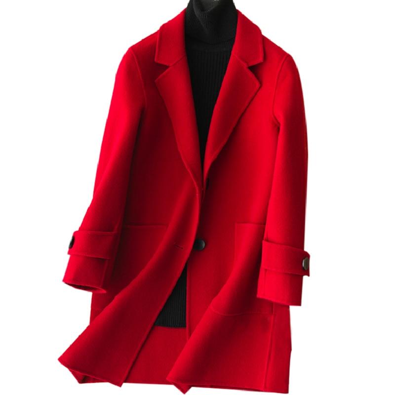 Offre spéciale femme laine manteau de haute qualité hiver veste femmes Slim laine Long cachemire manteaux Cardigan vestes manteau élégant