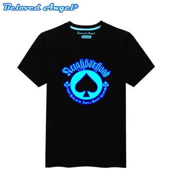 Children Clothing T-Shirt For Boys Fashion T Shirt Teen Girl Luminous Cotton Tops Teenage Boy Glow In Dark Kids Clothes Tshirts 3