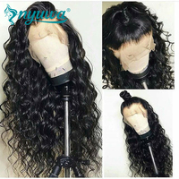 Curly Full Lace Human Hair Wigs With Baby Hair Brazilian Remy Hair Glueless Full Lace Wig Pre Plucked Natural Hairline NYUWA