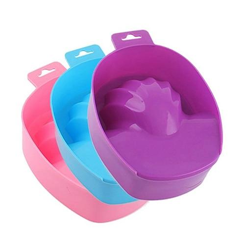1 Pc Nail Art Hand Wash Remover Soak Bowl DIY Salon Nail SPA Bath Manicure Tool Random Color