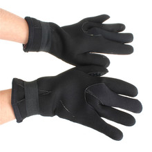 NEW ARRIVAL High Quality 5mm Neoprene Scuba Diving Snorkeling Surfing Spearfishing Water Sport Warm Glove Black Size S M L