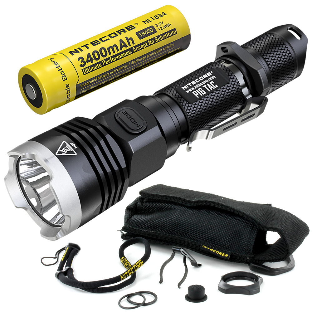 2019 Nitecore P16TAC 1000LMs <font><b>CREE</b></font> XM-<font><b>L2</b></font> <font><b>U3</b></font> <font><b>LED</b></font> Tactical Flashlight With 18650 Rechargeable Battery Hunting Search Torch image