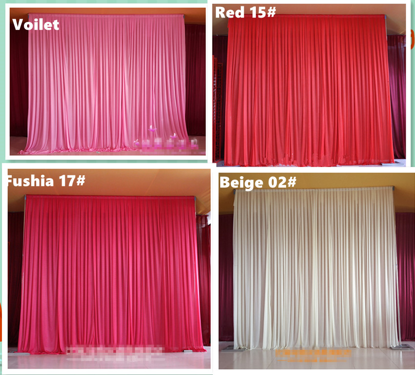 10ft 10ft plain sheer various color drape wedding stage for Background curtain decoration