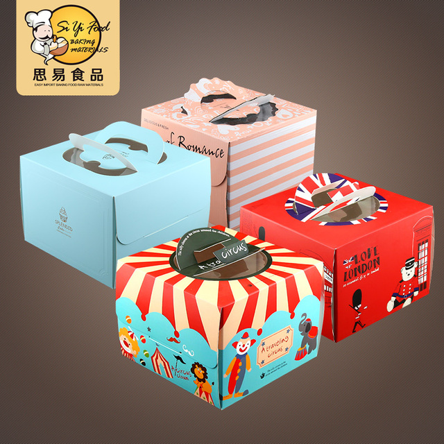 Us 29 92 32 Off Wholesale Retail Free Shipping 6 8 Inch Birthday Cheese Cake Box Gift Snack Portable Boxes With Nets In Storage Boxes Bins
