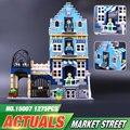 Dhl lepin 15007 fábrica calle de la ciudad modelo de mercado europeo los ladrillos del bloque hueco kits diy compatible 10190
