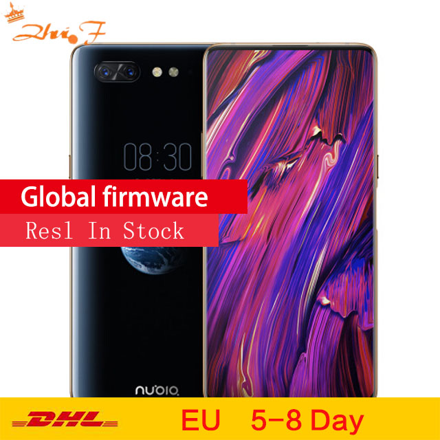 New ZTE Nubia X Mobile Phone 8GB/128GB Snapdragon 845 Octa Core 6.26+5.1'' Dual Screen 16+24MP Camera 3800mAh Dual Fingerprint
