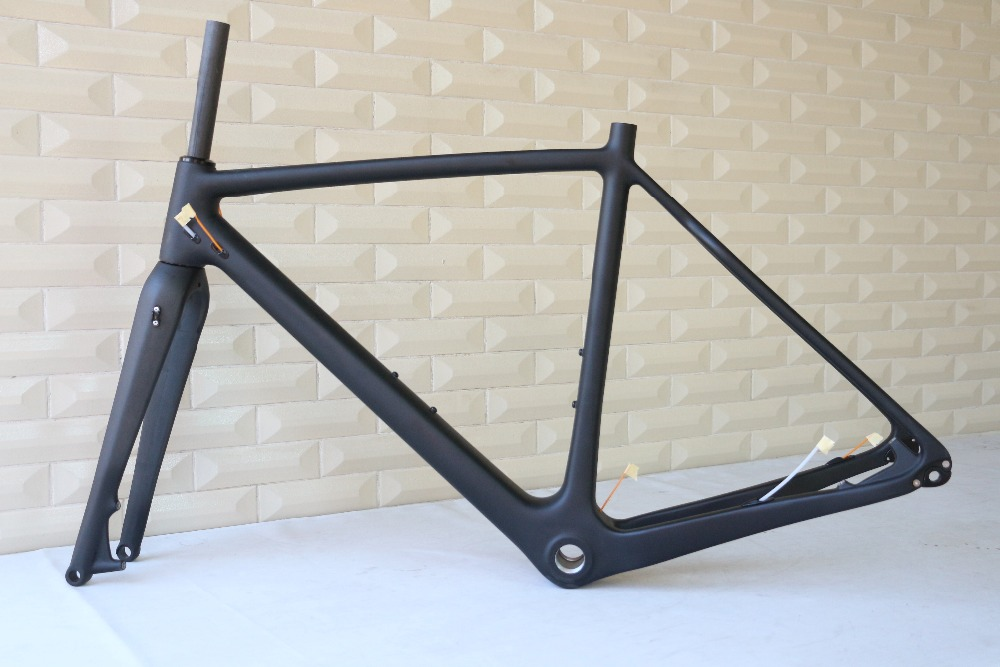 Wholesale Hot Selling CX Thru Axle frame, Carbon Cyclocross Bike Frame , OEM products , TanTan company  seraph 2018 carbon fiber cyclocross bike carbon cyclocross frame 142 12mm rear thru axle fm286 carbon frame 56 color paint