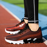 Men Sport Running Shoes Music Rhythm Women Sneakers Breathable Mesh Outdoor Athletic Shoe Light Zapatillas