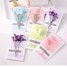 Цветы сушеные цветы открытка пригласительная пустая открытка Сделай Сам День Благодарения День рождения матери на заказ