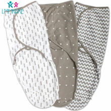 Grey Waves Baby swaddling blanket Newborn Cotton sleeping bag blankets baby swaddle envelope cocoon Bag