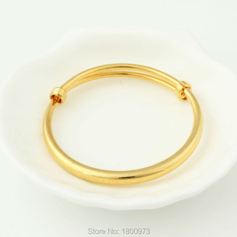 New Arrival Dubai gold jewelry baby boy girl Gold Color Bangles