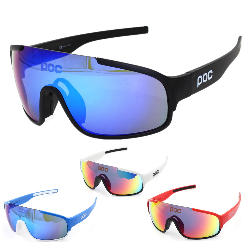 Crave Do 4 Lens Airsoftsports Blade Cycling Sunglasses Polarized Men Sport Road Mtb Mountain Bike Glasses Eyewear poc(China)