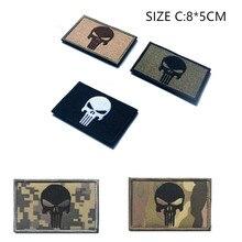 Каратель вышивка с военной тематикой Боевая нашивка крюк и петля Вышитая эмблема декоративный значок
