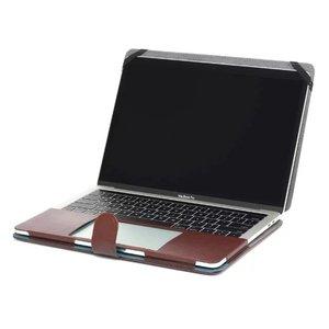 Image 5 - Nowe etui na laptopa do Apple Macbook Air Pro Retina 11 12 13 15 cali z dotykowym paskiem PU skórzane etui z twardą okładką