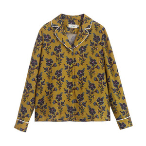 Image 5 - INMAN Spring Autumn Lapel Retro Style Flower Printing Lazy Wind Long Sleeve Women Blouse