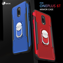 GKK Case for Oneplus 6t Finger Ring kickstand Heavy Duty Armor Protection Hard PC TPU Cover Shell Fundas