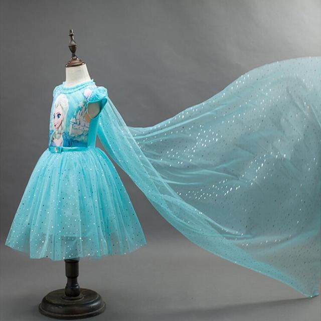 2019 חדש אנה אלזה שמלת ילדים סופיה נסיכת מסיבת תלבושות קוספליי שלג מלכת פנטזיה תינוק בנות שמלות + גלימת Vestido infantil