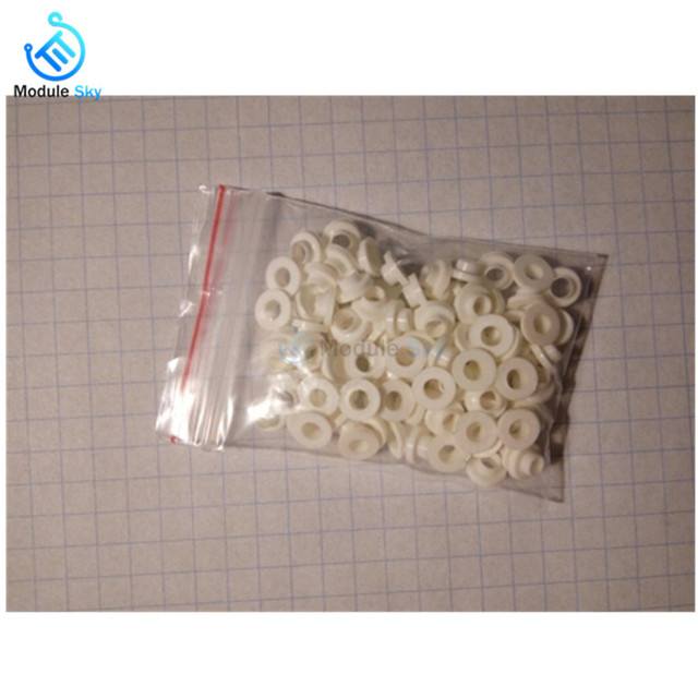 100PCS Insulating Tablets Insulation Bushing Transistor Pads Circle TO-220 Plastic Insulation Washer 1
