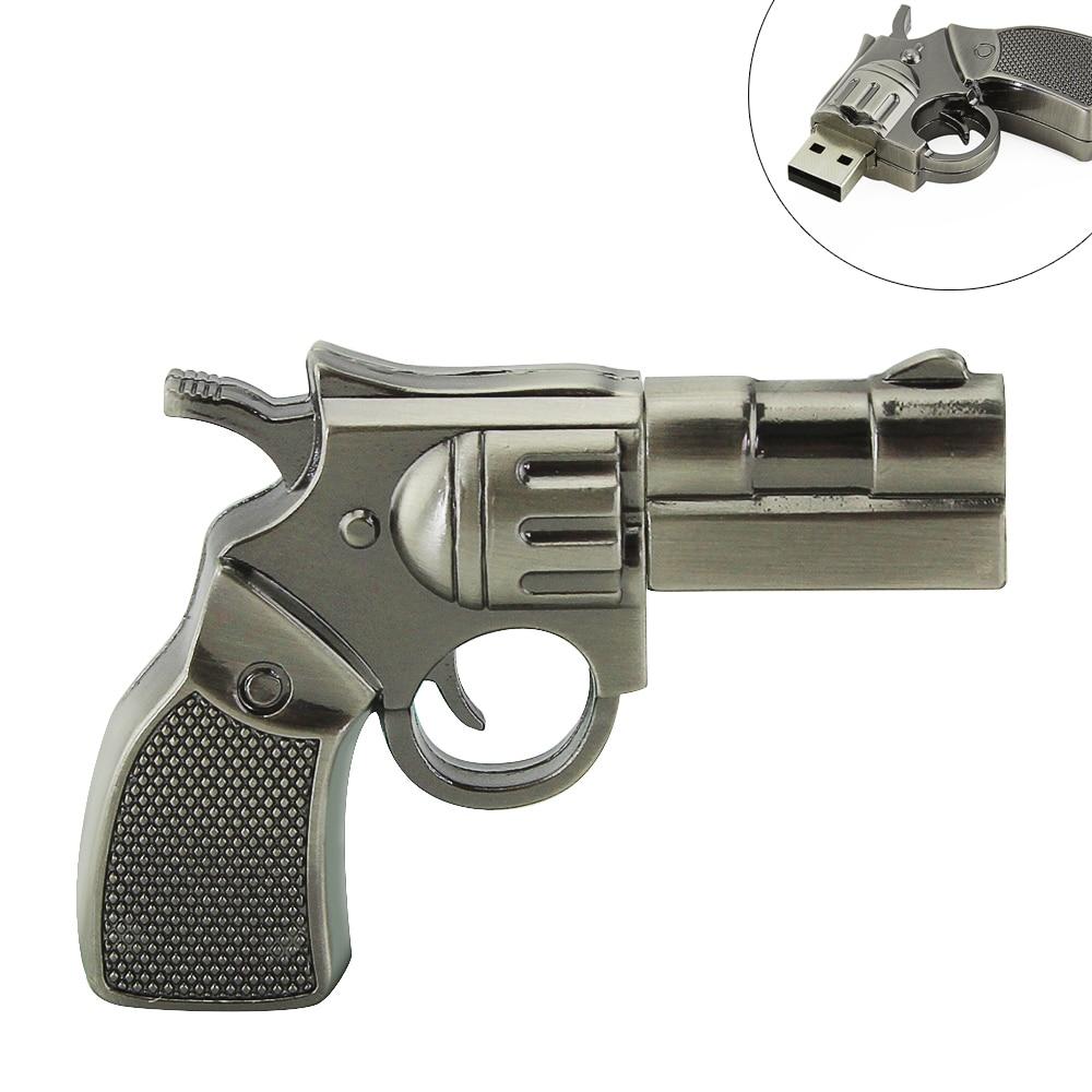 Genuine capacity toy metal gun model usb flash drive 32gb usb stick...