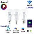 Умная жизнь alexa Google Assistant светодиодная смарт-лампочка E27 B22 E14 ampoule wifi лампа bombillas inteligente с регулируемой яркостью для дома Joneaz