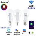Vita intelligente alexa Google Assistente ha condotto la Lampadina intelligente E27 B22 E14 fiala wifi lampada bombillas inteligente dimmerabile per la casa Joneaz