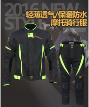 1 SET Mens Motorcycle Jacket&Pants Summer Racing Oxford Waterproof Sets Jacket Motocross Suits