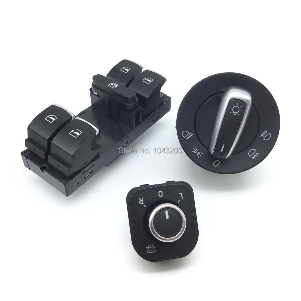 5ND941431A Přepínač nastavení sklonu světlometů pro VW Jetta Golf GTI MK5 OE # 5K1959565 5ND959565B 5ND959857