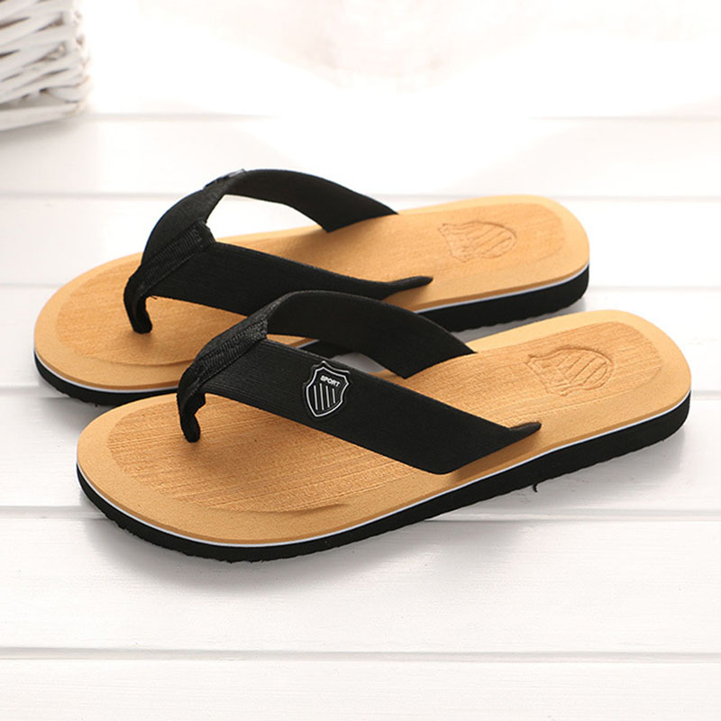 Summer Men Flip-flops New Indoor Lightweight Non-slip Bathroom Home Men Slippers Fashion EVA Cushioning Toe Men Beach Shoes