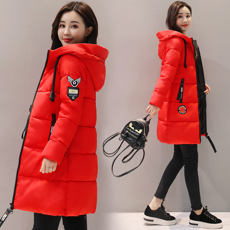 HTB1jtRvdjfguuRjy1zeq6z0KFXao Parka Women 2019 Winter Jacket Women Coat Hooded Outwear Female Parka Thick Cotton Padded Lining Winter Female Basic Coats Z30