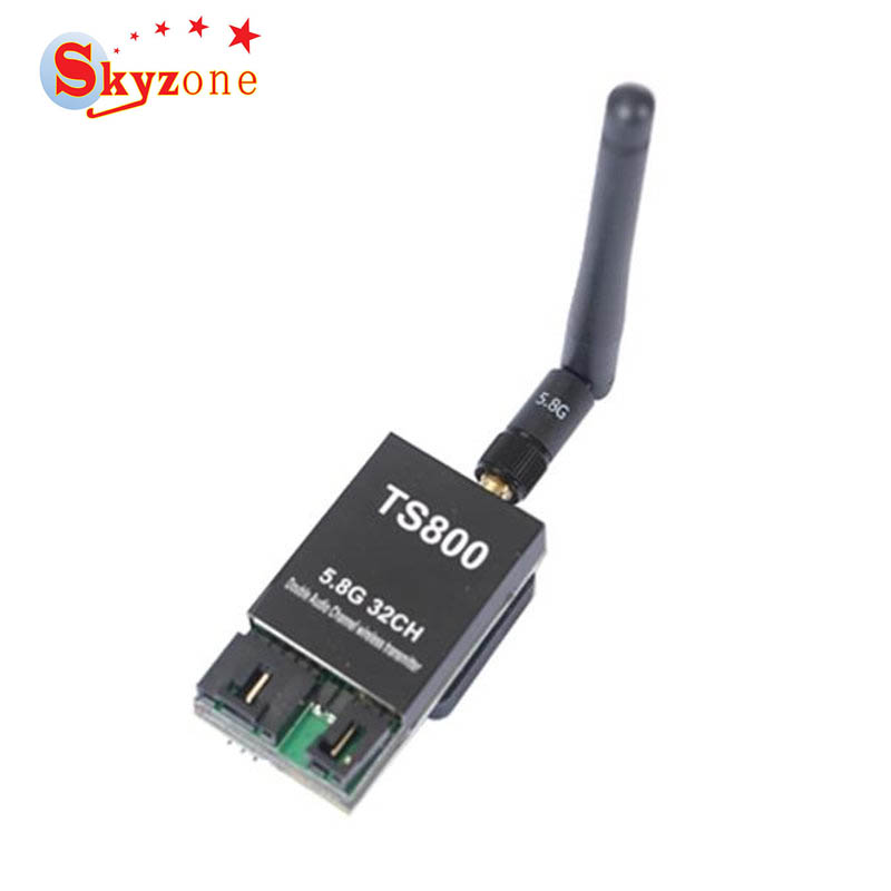 Skyzone TS800 5.8G 32CH Raceband Dual Channel Wireless AV FPV Transmitter SMA Male NTSC/PAL For RC Models Goggles Receiver Parts ufofpv tx35 5 8g 40ch raceband 0mw 25mw 300mw adjustable fm av fpv transmitter sma rp sma for fpv quadcopter rc drones diy page 1