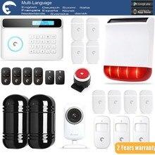 Etiger S4 eTIGER GSM/PSTN Sistema de Alarma Antirrobo Para El Hogar/Oficina WiFi HD720P Cámara de INFRARROJOS de Doble Haz infrarrojos