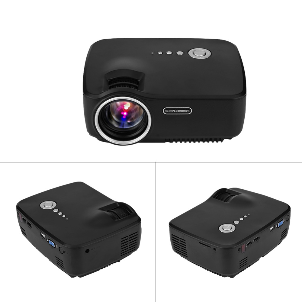 EU Plug Mini Projector Video HDMI LED Projector Home Theater Full HD 1080P Displaying 16:9 Cinema Portable Proyector For Video cheap china digital 1000lumens hdmi usb home theater best hd 1080p portable pico lcd led video mini projector beamer proyector